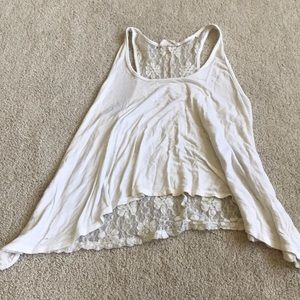Tops - Lace back tank top